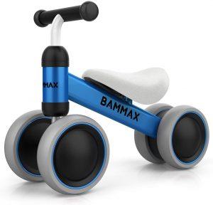 Bammax Vélo Bébé Draisienne pour Bébé de 1 an-18 Mois, Vélo Enfant sans Pédales Jouet Educatif Baby Walker